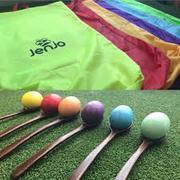 Egg Spoon & Hacky Sack Races |  Outdoor Games | Jenjo Games Australia